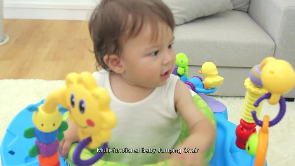 Huile high quality science educational toy baby bounce jumping chair with music 696