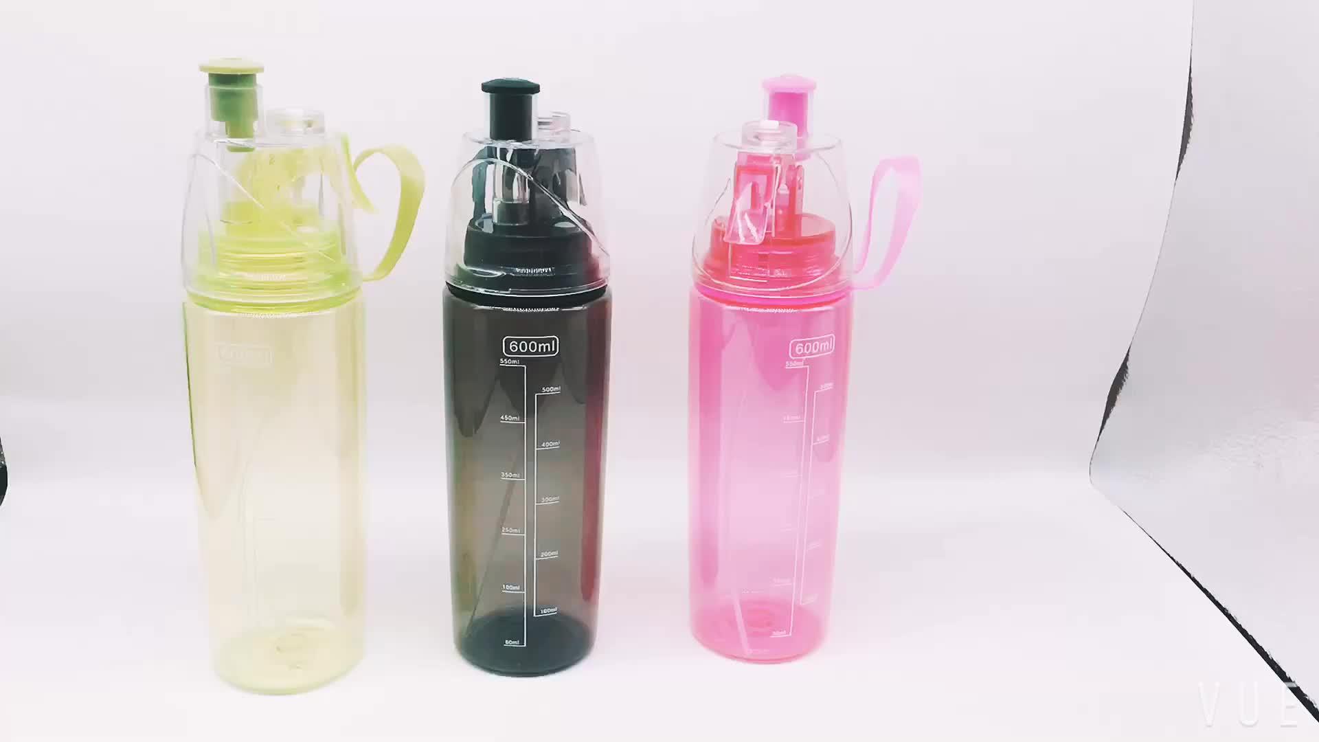 600ml Sport Spray Water Bottle BPA Free Sport Plastic Bottles Moisturizing & Hairdressing Beauty Tools