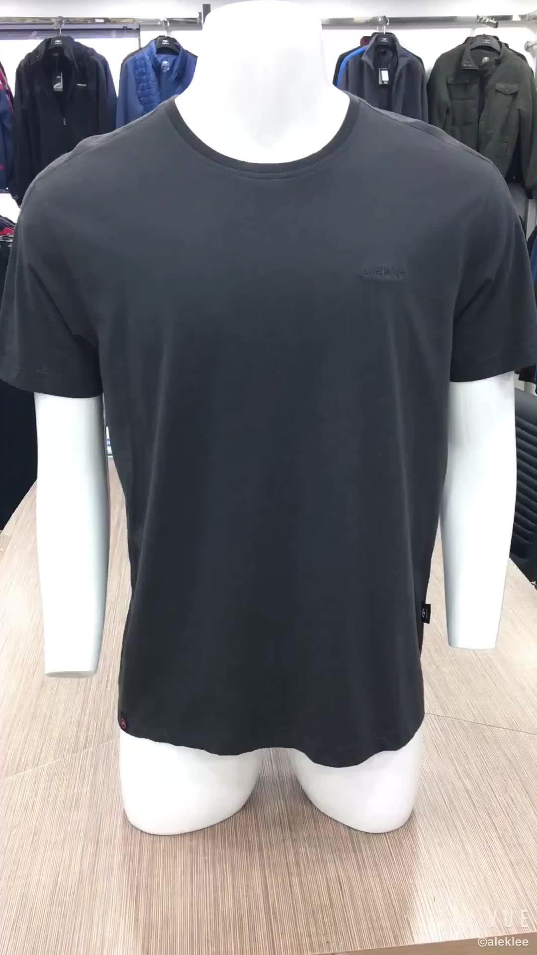 Venta de la fábrica 65% algodón 35% poliéster hombres en blanco al por mayor de algodón de manga corta Deporte Camiseta de los hombres