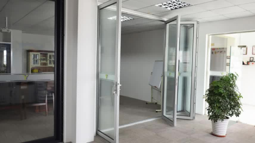 Aluminum Frame Tempered Glass Bifold Folding Door Used Exterior Doors For Sal
