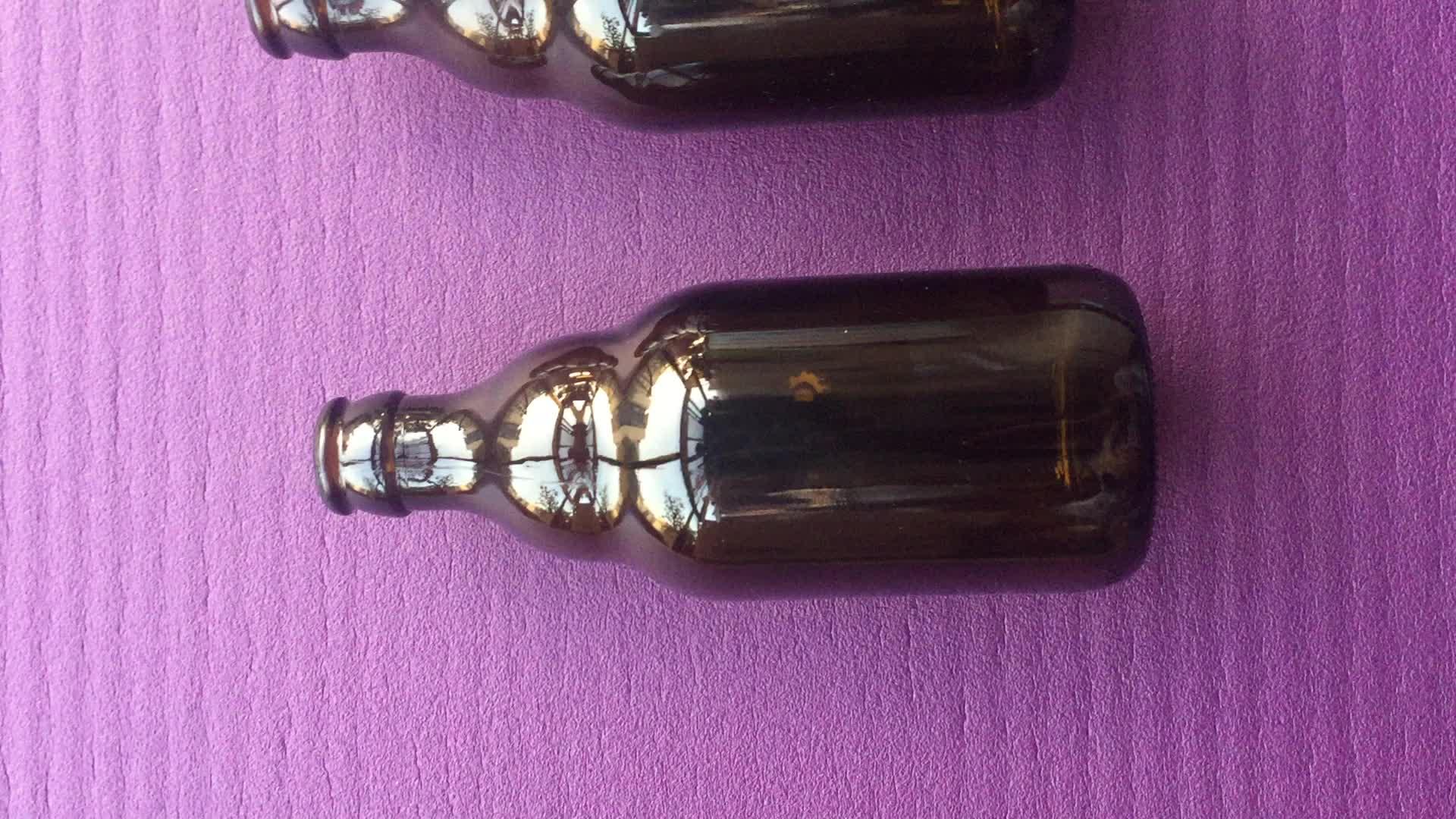 Stubby Amber Glass Beer Bottle 330 ml 11 oz