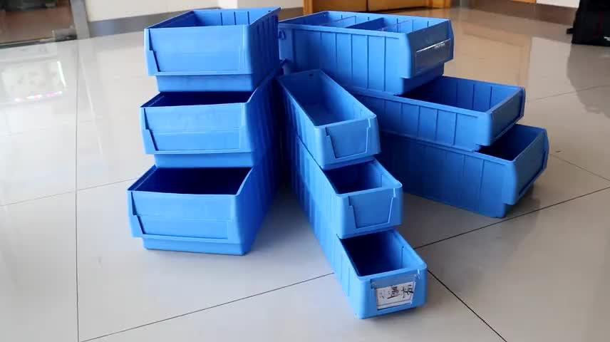 Складские промышленные высококачественные пластиковые штабелируемые стеллажи для хранения, пластиковые переносные ящики для запасных частей