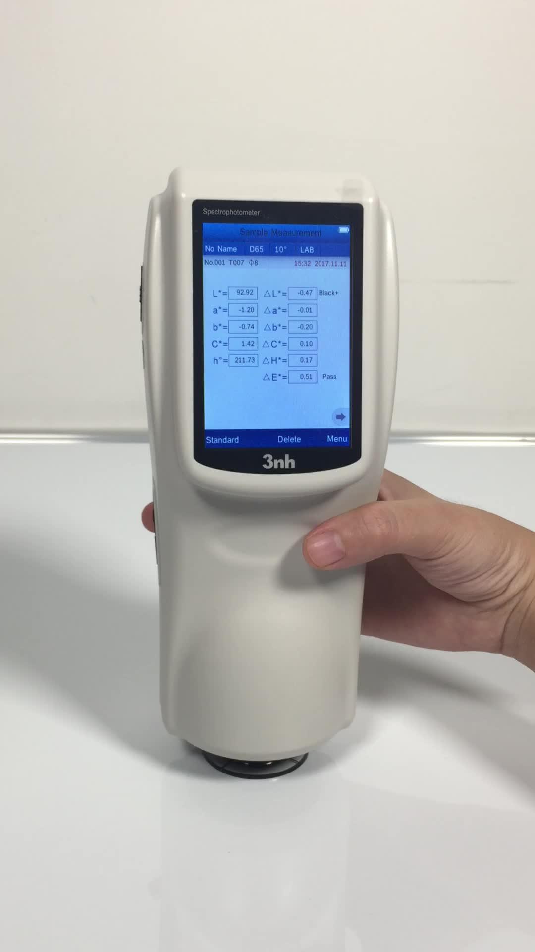 3NH ceramic tile spectrophotometer ns800 45/0 color meter delta E CIE lab value with color quality software