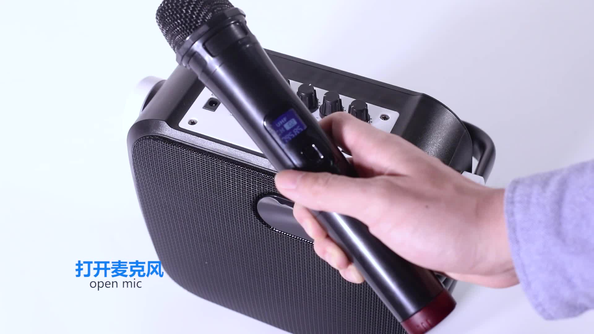 China 80 Watt 50W Microphone  Amplifier Pa Classroom System 100W Subwoofer Box Portable Karaoke Party Speaker