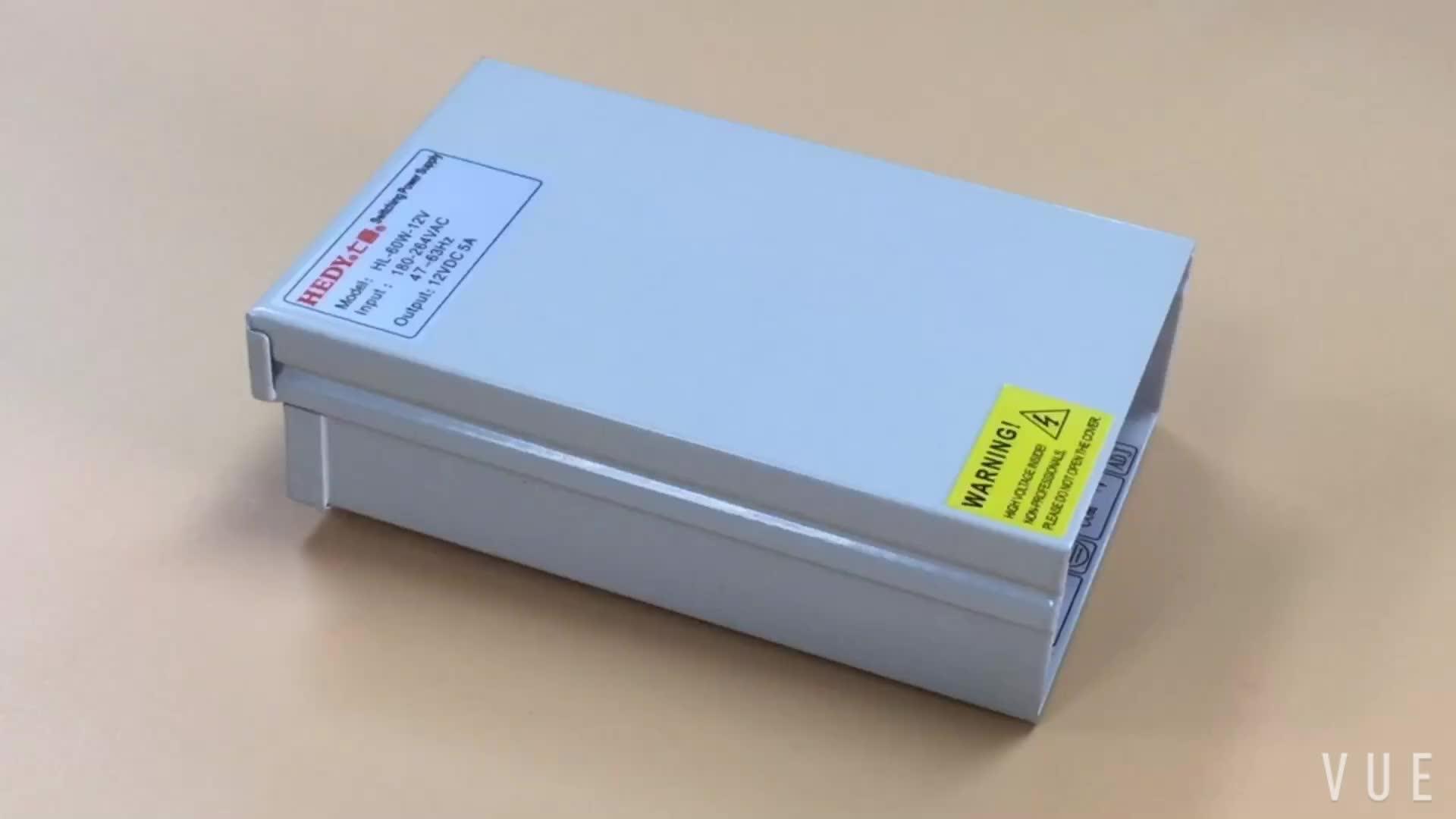 12V 5A 60W switch mode power supply CCTV