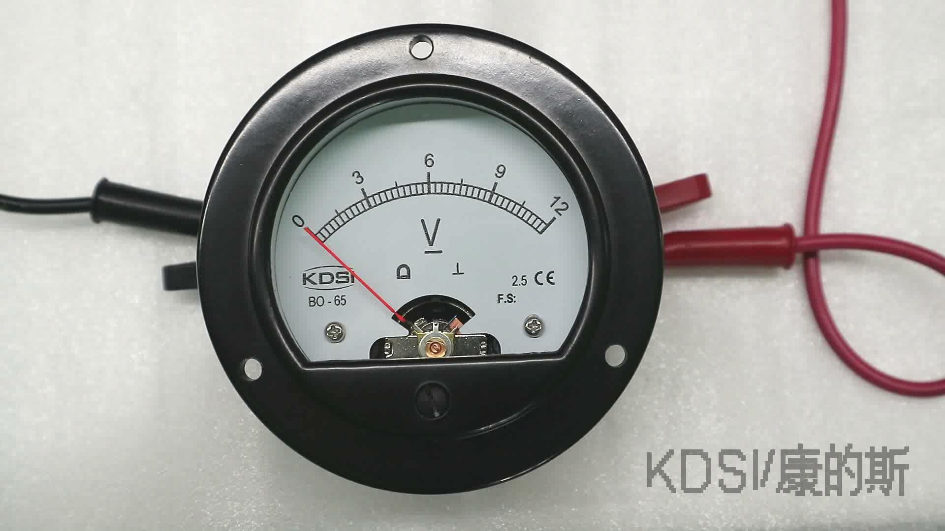 KDSI 라운드 형 BO-65 DC12V 패널 아날로그 배터리 표시