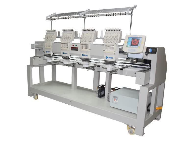 Commercial digital bed sheet leather 4 heads embroidery machine
