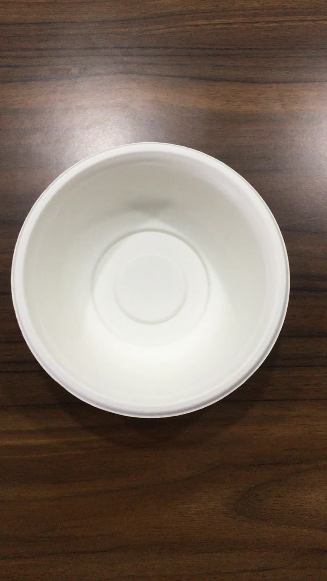 Disposable 500ml Microwave Safe Rice Paper Bowl