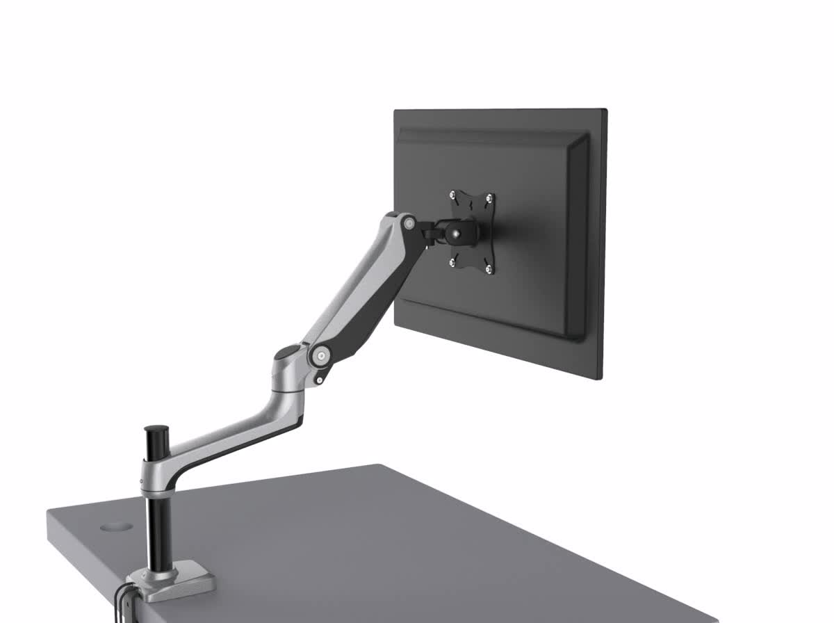 Articulated Computer Stand : Articulating vesa desk mount computer lcd monitor arm for