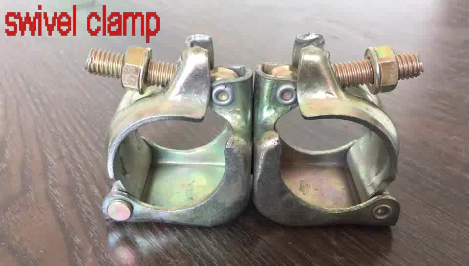 Galvanized Swivel Or Fixed Pipe Clamp For Scaffolding