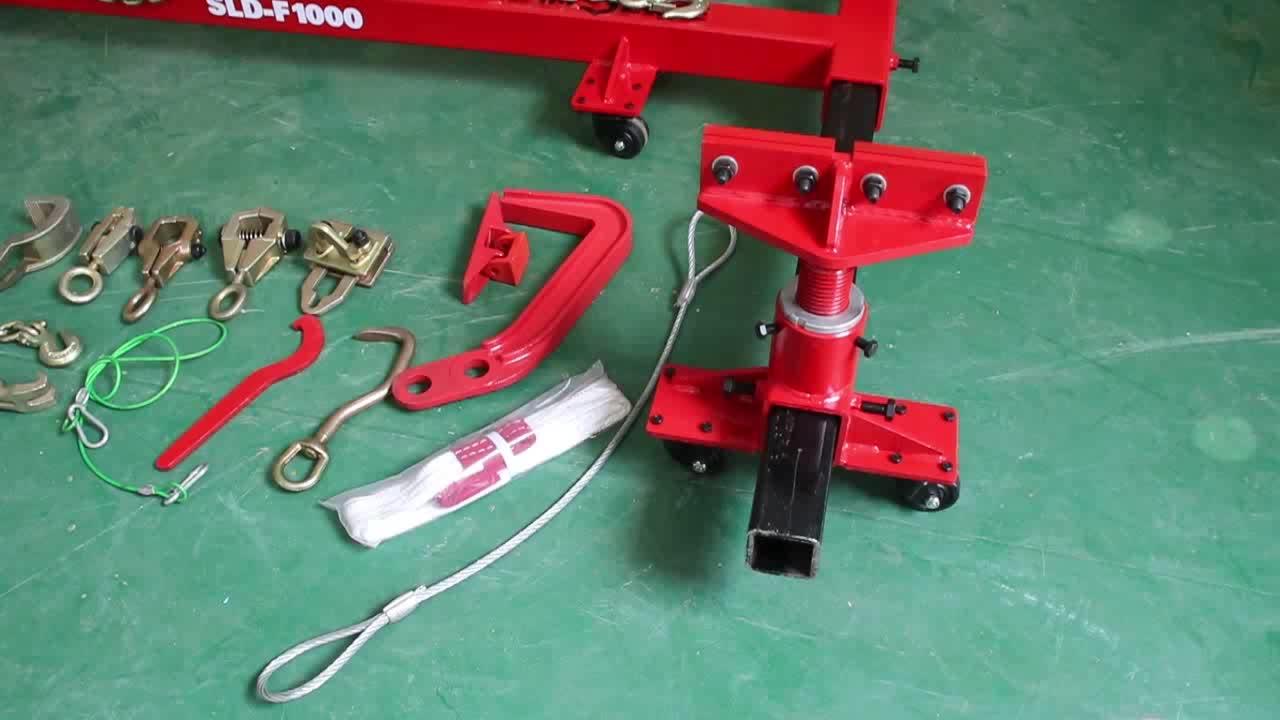 รถ F1000 แร็คเรียบง่ายซ่อมตัวถังรถยนต์เครื่องกรอบ
