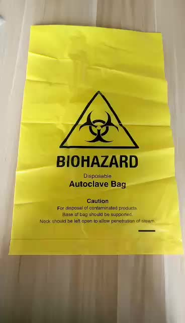Yellow Poly Medical Waste bags for Grand Hospital and Clinical Usage \Waste bags with High Quality