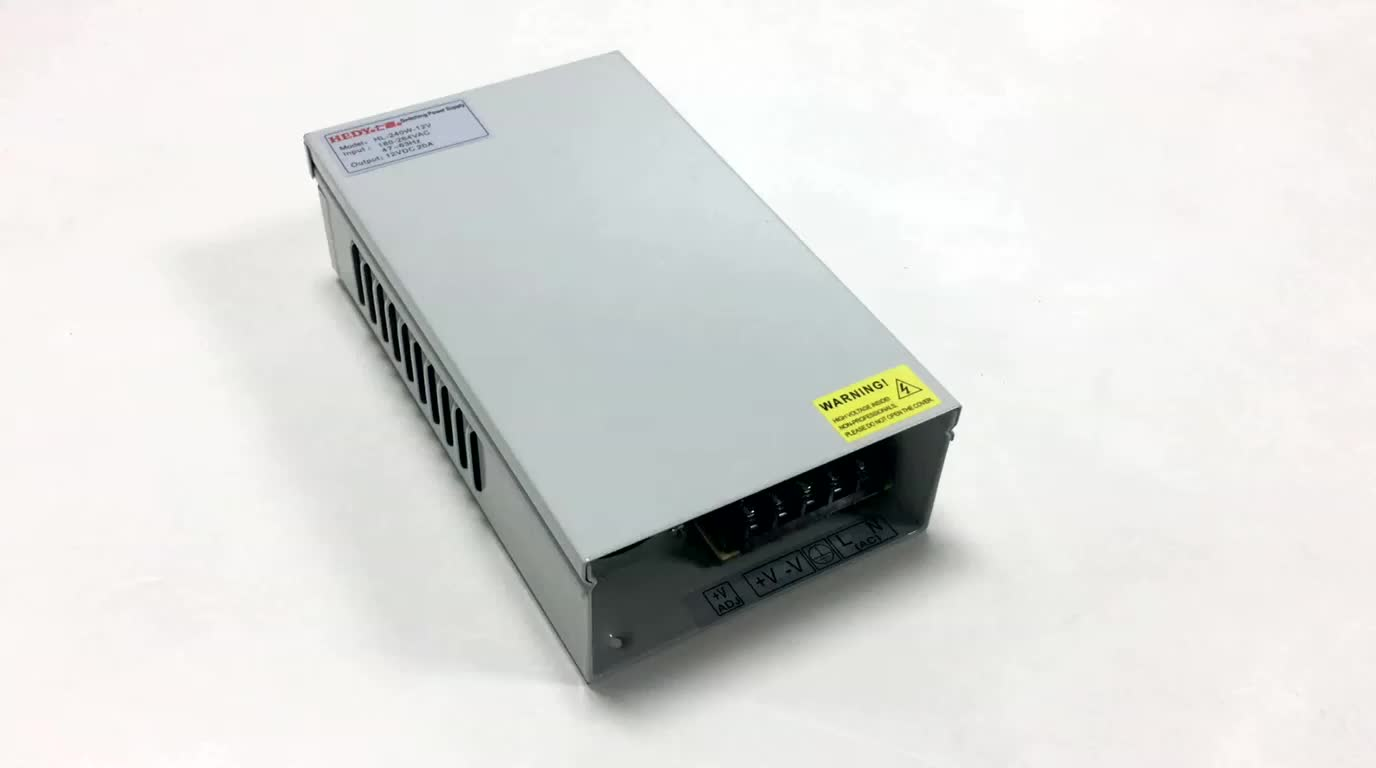 Hot selling AC to DC constant voltage 240W 12V 20A CCTV power supply