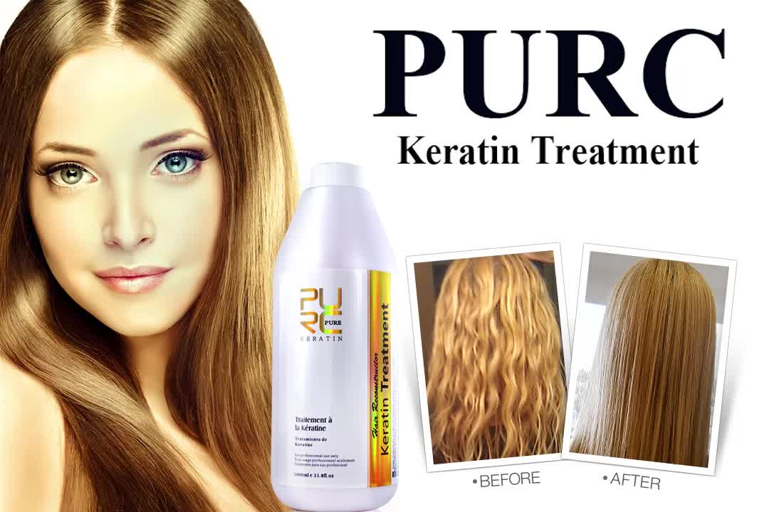 Commercio all'ingrosso purificante Shampoo vendita calda DELL'OEM di vendita dei capelli della cheratina shampoo 300 ml raddrizzamento organico prodotto per i capelli