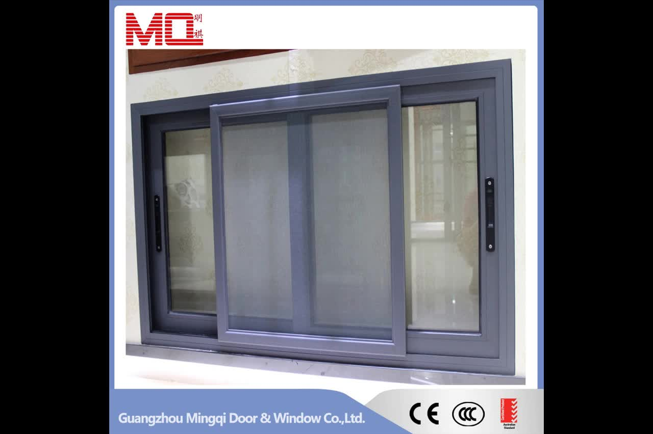 2017 Latest Design Modern Windows Aluminum Sliding Glass