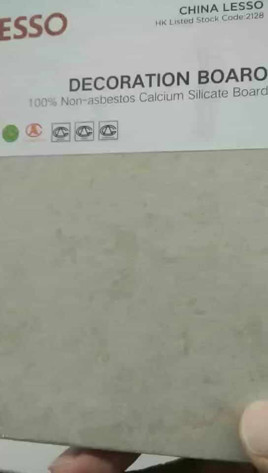 Resistente à umidade placa de silicato de cálcio com alta densidade de 9mm de espessura