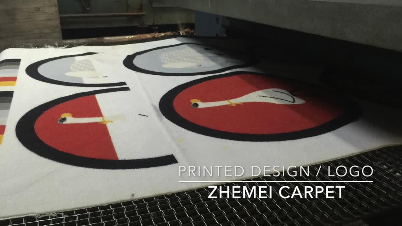 100% Nylon impreso felpudo lavable felpudo manufactura logotipo Mat
