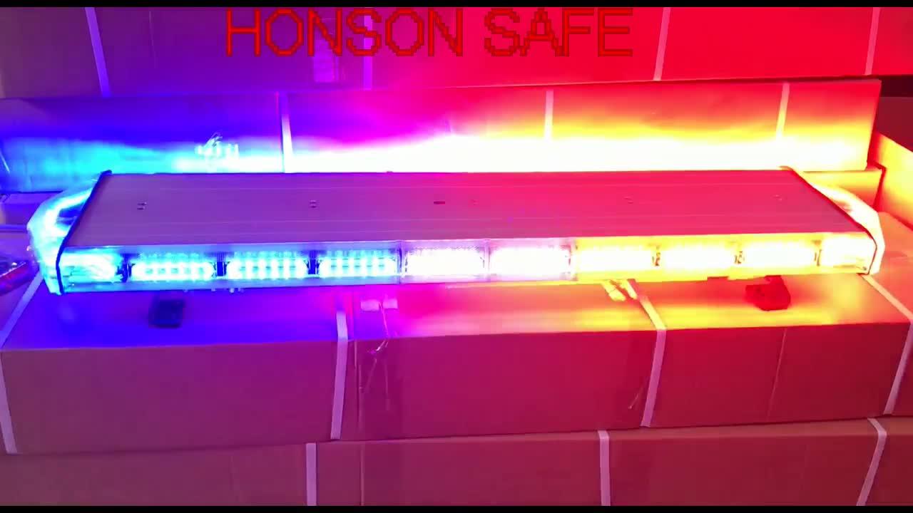 48 ''LED Bernstein Mehrere Typen Längen Auto Strobe Warnung Notfall LED Licht leiste für Polizei fahrzeug HS6132