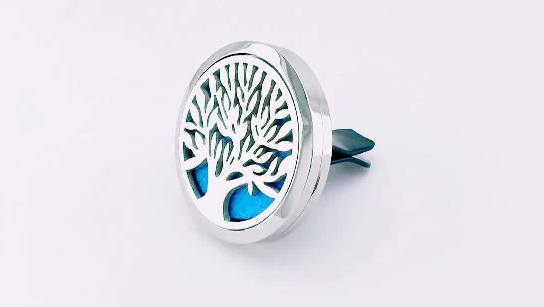 Wholesale 38mm Magnetics 316L Stainless Steel Car Aromatherapy Locket Essential Oil Diffuser Lockets