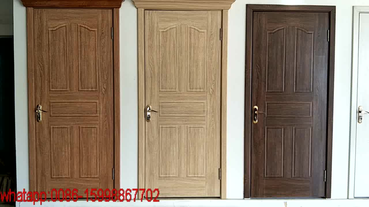 2017china alibaba golden supplier latest teak wooden main for Plain main door designs