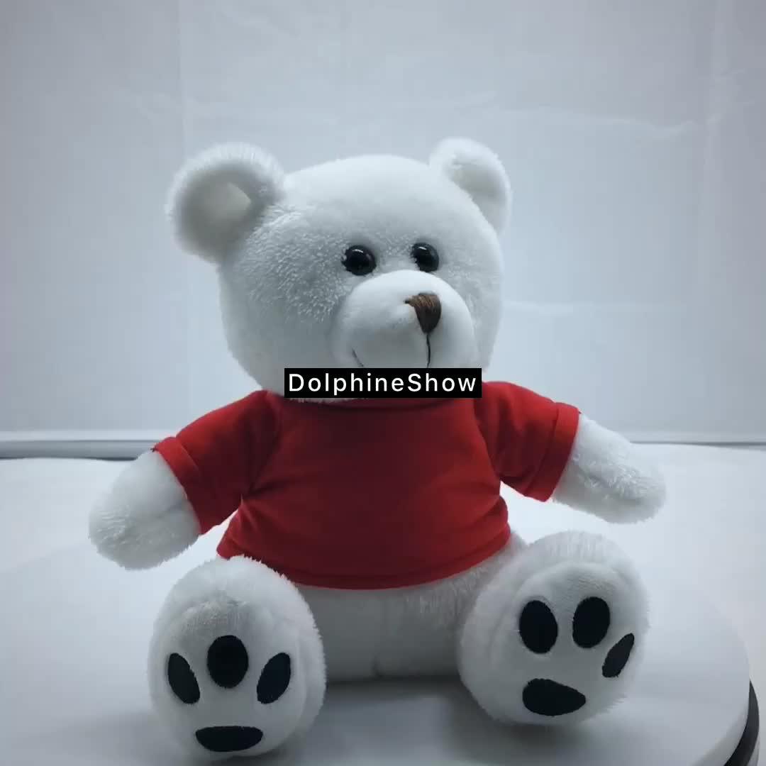 Regalos promocionales niños peluche juguete de peluche suave marca logotipo personalizado oso de peluche con camiseta venta al por mayor fábrica oso de peluche