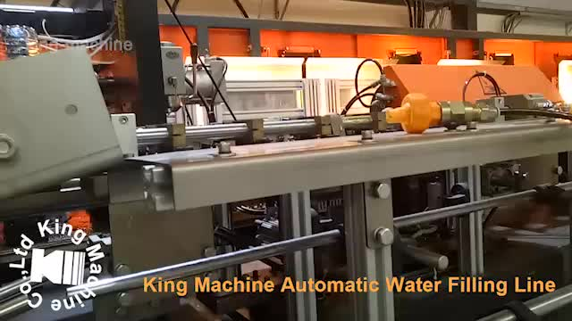 Automatic glass bottle cleaning drinking water filling machine