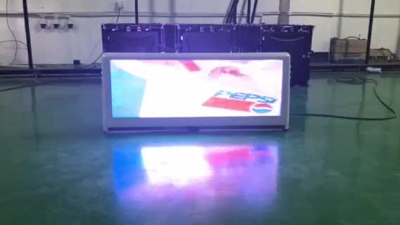 3 Gam điều khiển không dây P5 taxi led hiển thị/Xe Top Đăng/LED Quảng Cáo 960 mét x 320 mét double sided
