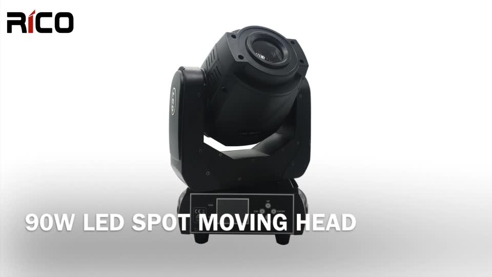 event lighting 90 watt led moving head spot with fixes gobo for stage