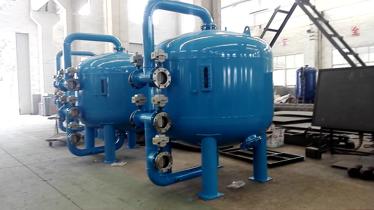 Industrial Water Treatment : Industrial wastewater treatment sand filter in water
