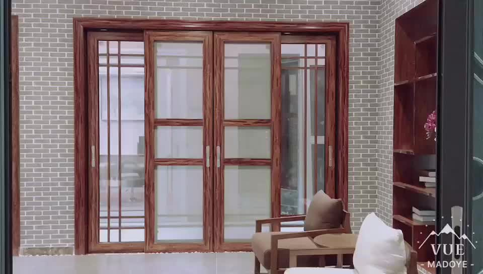 Fashion House Interior Sliding Glass Window And Main Door Grill