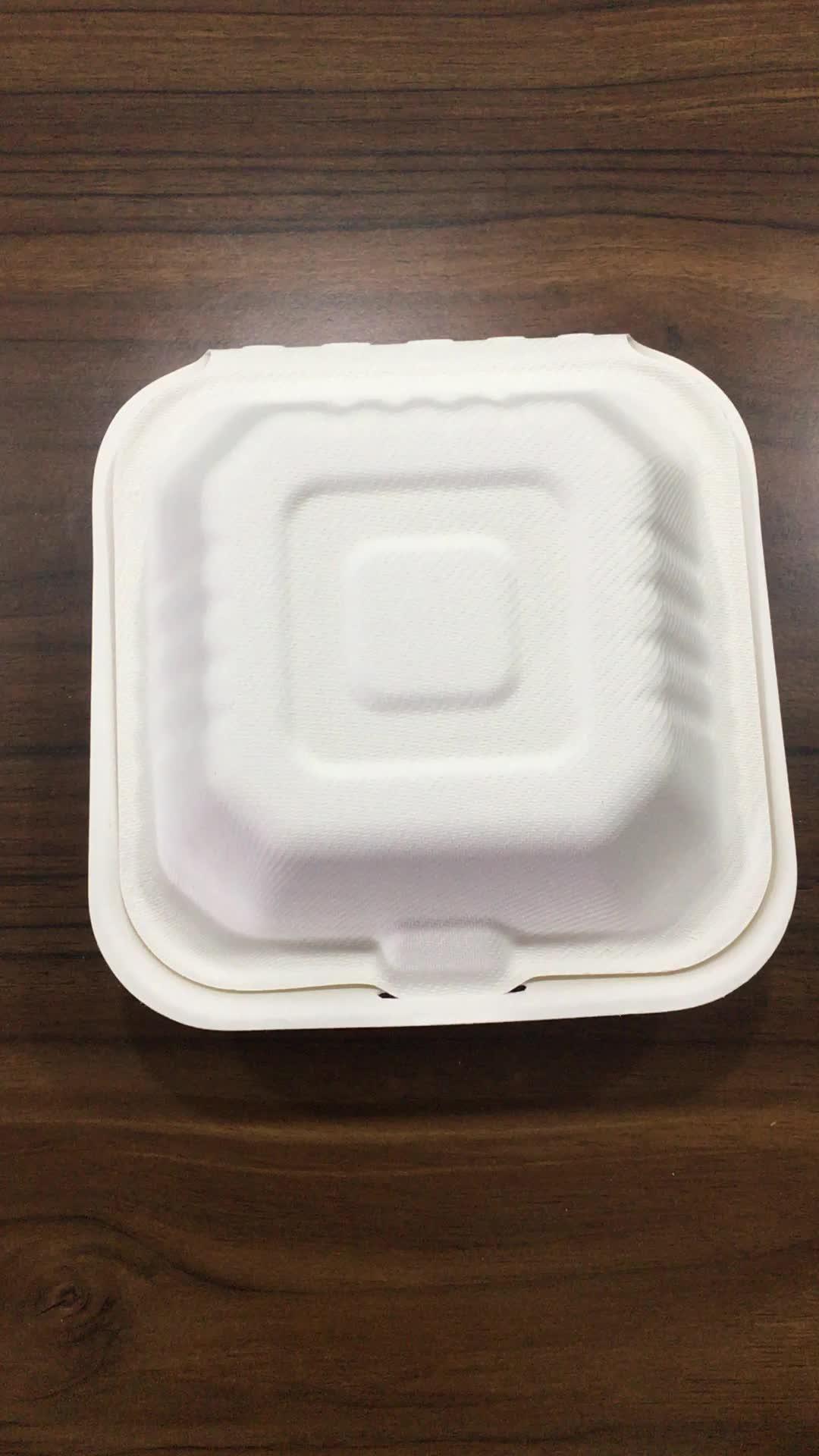 6 pulgadas de vajilla de comida rápida bagazo de caña de caja
