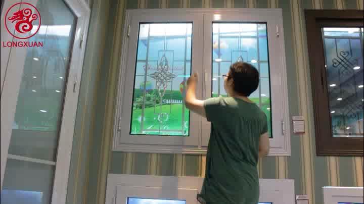 Longxuan tamaño personalizado marco de aluminio puertas correderas de madera de vidrio de aluminio de la ventana