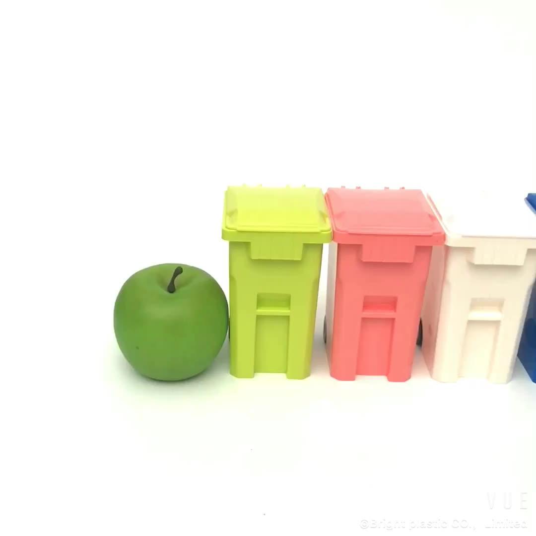 China leverancier mini prullenbak vormige pen houder, plastic mini desktop auto bin