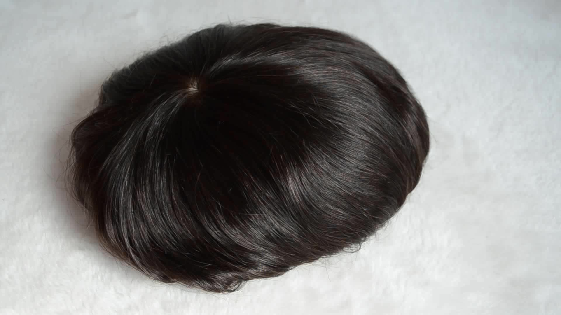 bleached knots 100% human hair full swiss lace men toupee