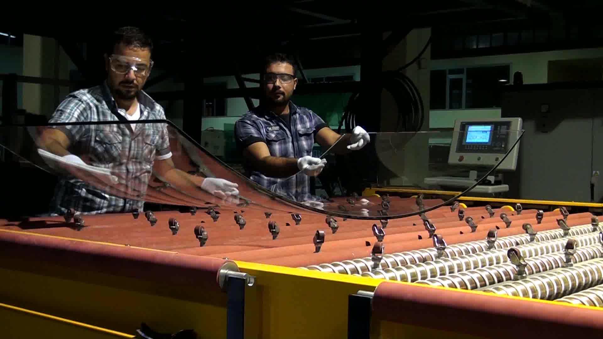 LandGlass maquina de templado vidrio curvado boynuzu para doblar vidrio