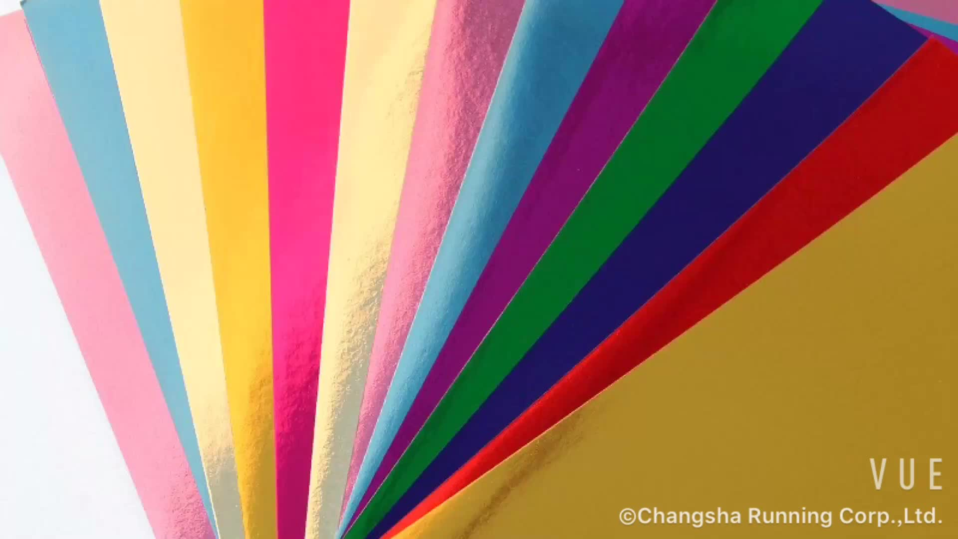 メタリック段ボール中国製造色メタリック紙