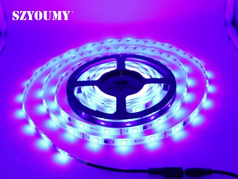SMD 5050 RGB (150) 의 LED SMD 5 M LED Flexible 빛 Strip 방수 + 44 키 REMOTE + 12 V 3A Power Supply