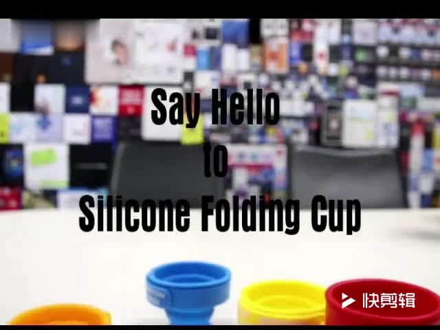 2018 Wholesale collapsible travel silicone foldable cup