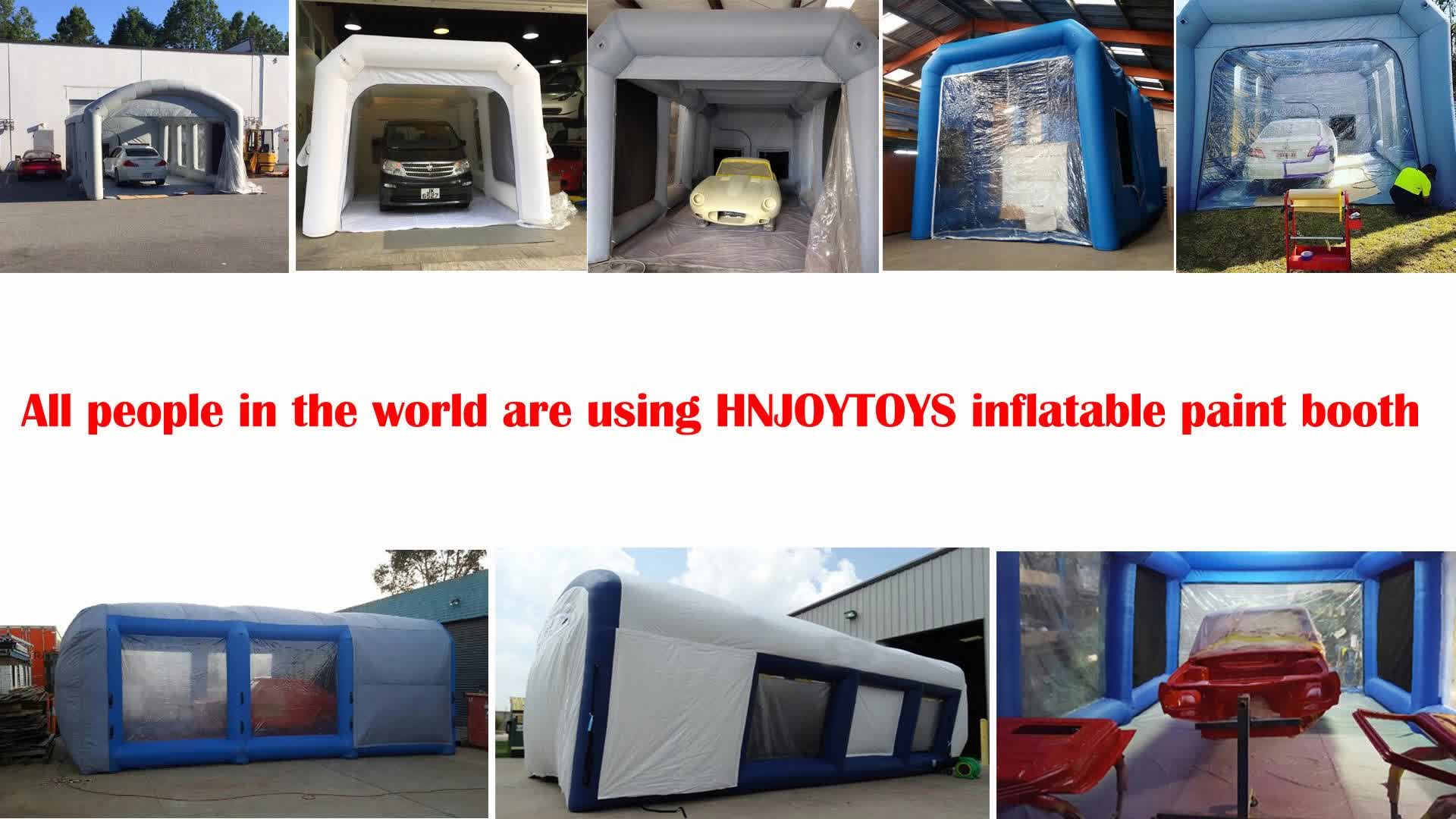 Inflatable Spray Paint Booth For Car