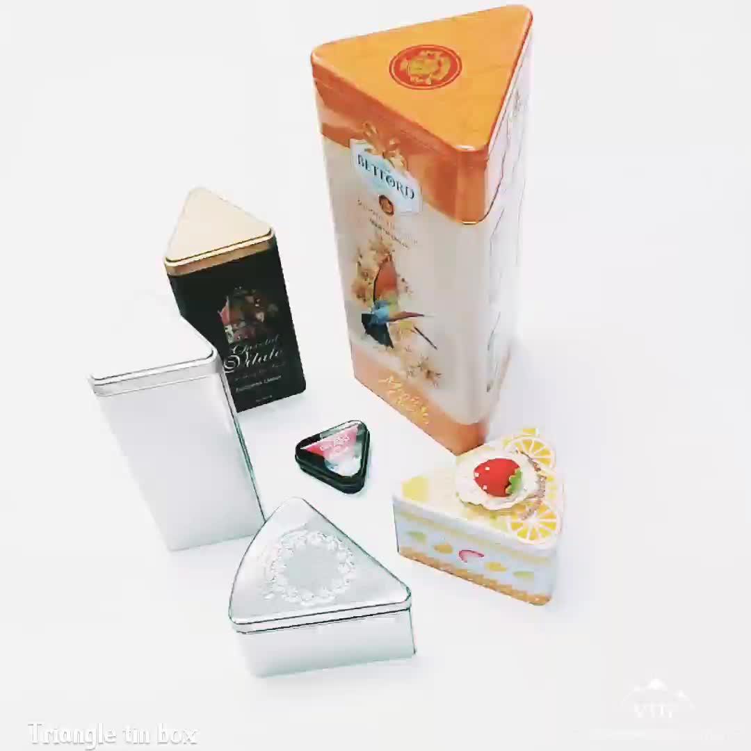 triangle metal wine tin box