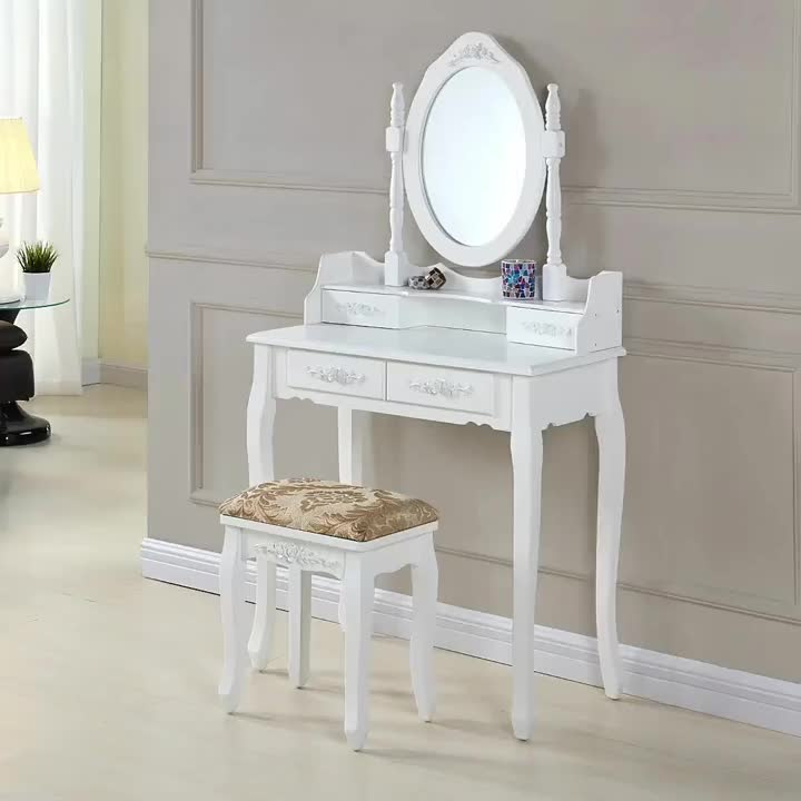 Designs Girls Price Wooden Dressing Table With Full Length Mirror