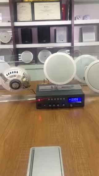 ร้านขายร้อนซูเปอร์มาร์เก็ต60วัตต์บลูทูธผสมเครื่องขยายเสียง+ 8ชิ้นเพดานลำโพงC Ombo SetมินิระบบPA