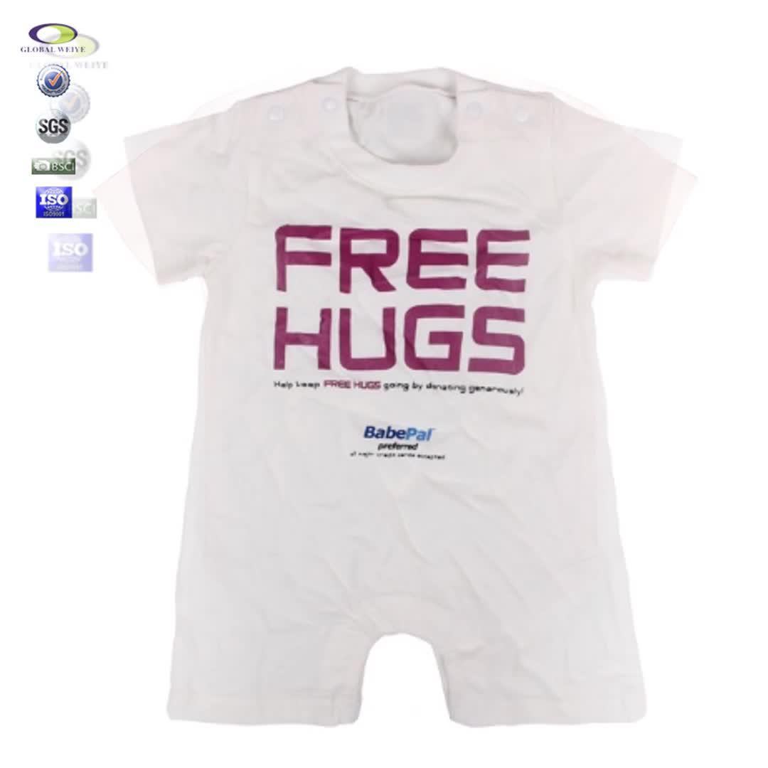 Cina Pabrik OEM Harga Murah Baru Lahir Desain Kustom 100% Pakaian Bayi