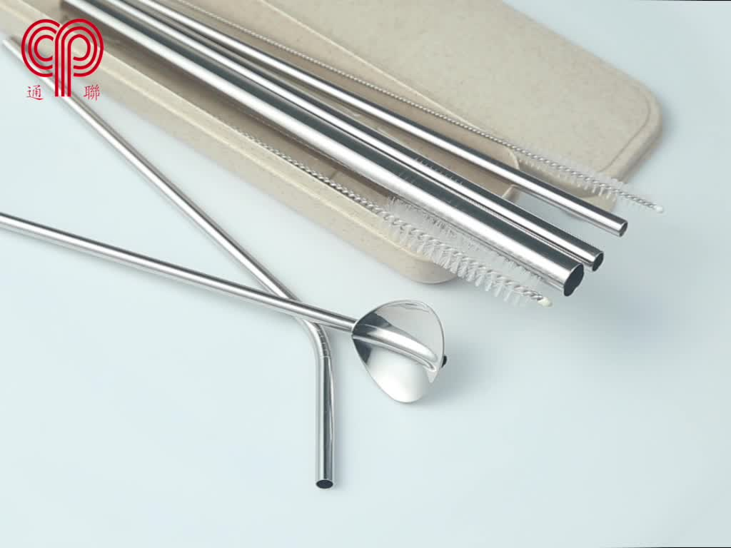 FDA/SGS Certified food grade stainless steel straw special color for Christmas promotion