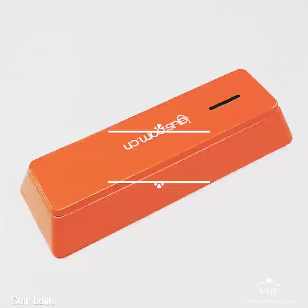 Trapézio design barra de chocolate de presente do metal do ouro caixa de tn