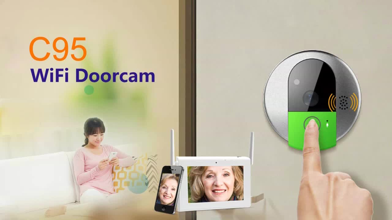 Vstarcam Smartphone wifi doorbell, Remote answer wifi doorbell camera