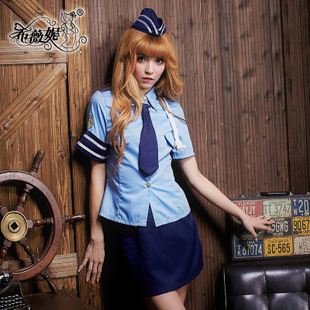 policewoman COS Sexy Lingerie party costumes Photo overalls uniforms temptation role-playing nightclub L022