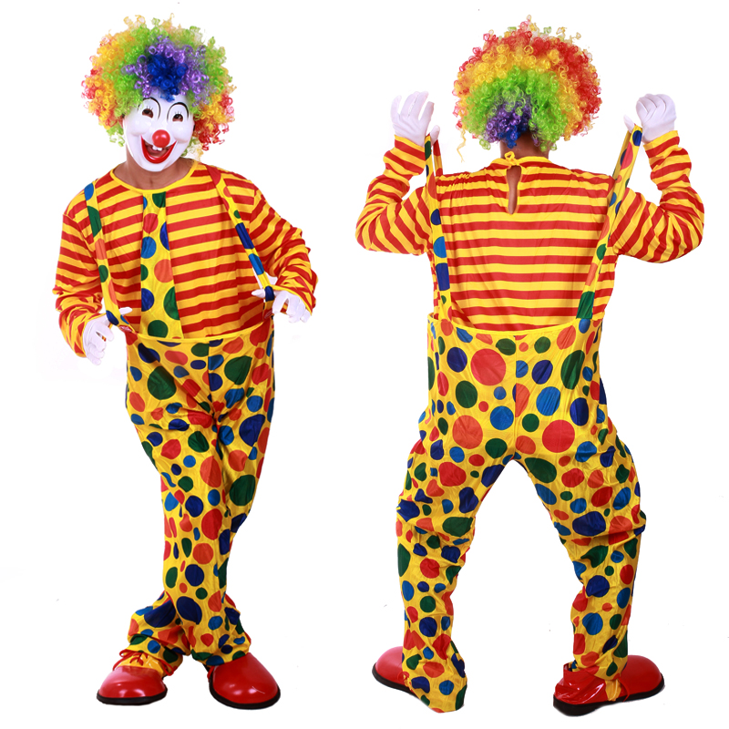 Детский карнавальный костюм Смешные Рождественские фантазии платье партии костюмы одеваются взрослый костюм обруч клоун взрослых клоун костюмы