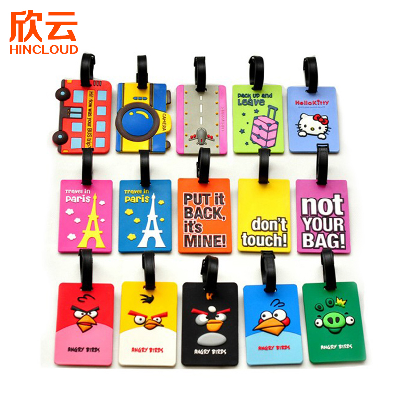 Xinyun fashion cartoon holiday must-have travel line trolley bus card luggage tag luggage shipping documents