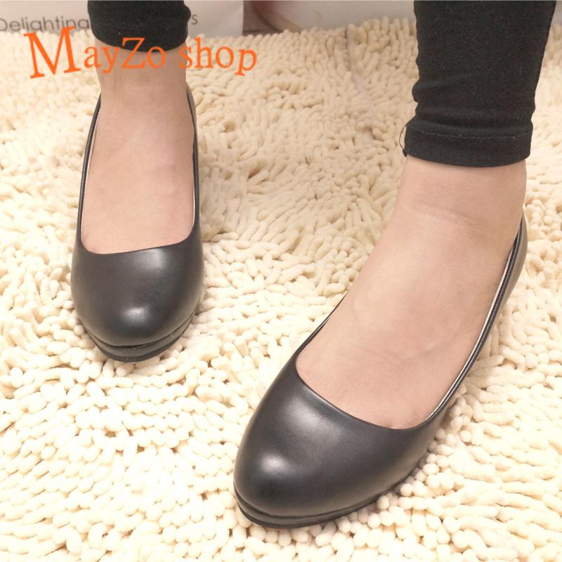 2013新款春夏季韩版潮女鞋子厚底黑色婚鞋中跟鞋单鞋 休闲工作鞋